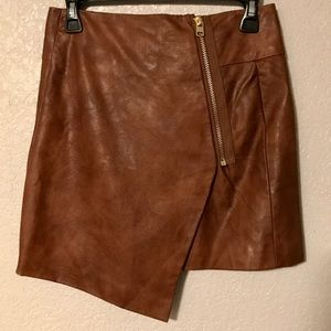 NWOT Faux Leather WrapAround Skirt